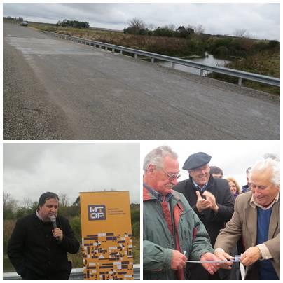Se inauguró puente en km 43 de la ruta 86