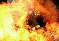 Incendio en finca