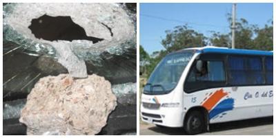 Compañía del Este, evalúa eliminar líneas por pedreas a ómnibus